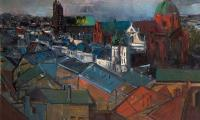 cracow landscape, 1996, oil on canvas, 100x130
