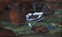homage to Brack'a, 1999, oil on canvas, 40x70