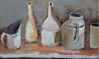 homage to Morandi I, 2005, oil on canvas, 35x45