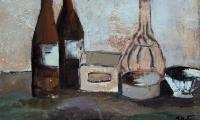 homage to Morandi II, 2005, oil on canvas, 30x40