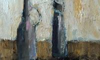 homage to Morandi II, 2006, oil on canvas, 18x20