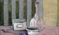 homage to Morandi III, 2006, oil on canvas, 30x40