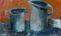 homage to Morandi IV, 2006, oil on canvas, 30x40