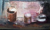 homage to Morandi VI, 2006,oil on canvas, 18x24