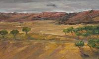 andalusia, 2001, oil on canvas, 45x100