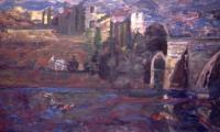 toledo IV, 1997, oil on canvas, 80x160