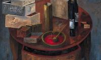 cinnamon stores VIII, 2001, oil on canvas, 80x100