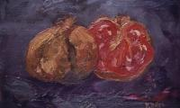 pomegranates, 1998, oil on canvas, 18x24