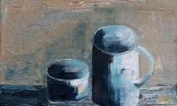 homage to Morandi XIX, 2006, oil on canvas, 18x20