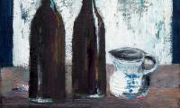 homage to Morandi XVIII, 2006, oil on canvas, 18x20