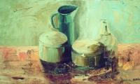 still life III, 2003, oil on canvas, 40x70