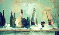 still life IV, 2003, oil on canvas,60x120