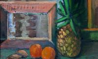still life with pineapple, 1999, oil on canvas, 40x50
