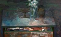 still life with white flowers, 1999, oil on canvas, 93x135