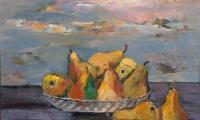 stil life with pears, 2004, oil on canvas, 40x50
