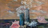 still life with seashell, 2004, oil on canvas, 50x60