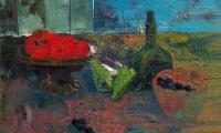still life with tomatoes, 2001, oil on canvas, 60x80