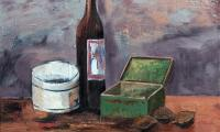 still life with a green box, 2004, oil on canvas, 40x52