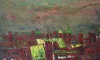 town, 1996, oil on canvas, 130x120