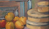 still life with apples, 2005, oil on canvas, 40x50