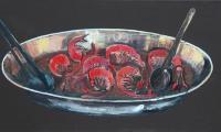 seafood X, 2007, oil on canvas, 40x80